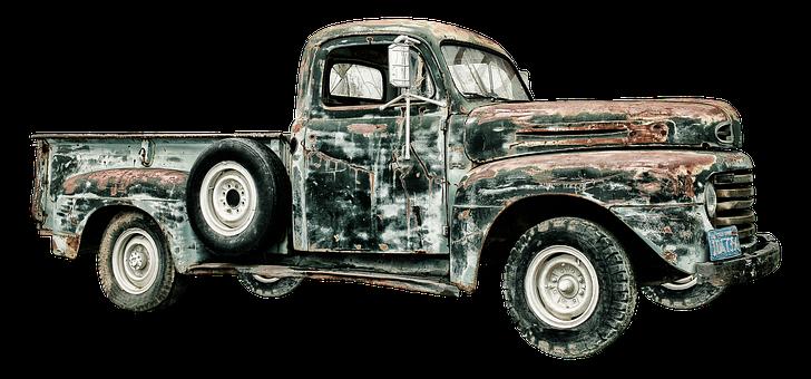 Pickup, Truck, Scrap, Oldtimer, Usa, Vehicle, Transport