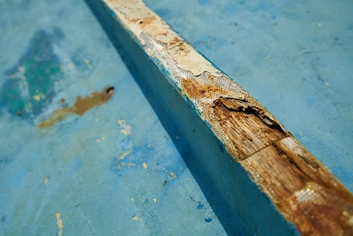 Blue, Painted, Worn, Texture, Wood, Abstract