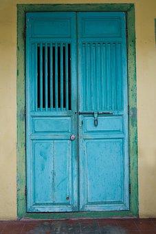 Blue, Door, Architecture, Old, Color, Art, Construction