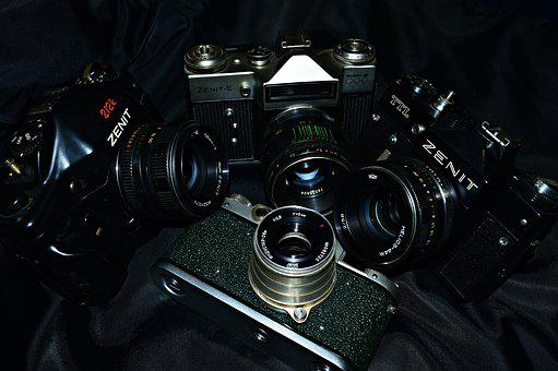 Cameras, Photography, Camera, Lens, Retro, Zenith