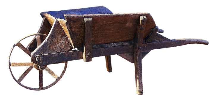 Wheelbarrow, Old, Wooden Cart, Cart, Nostalgia