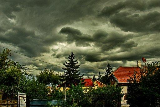 Cloudy, Stormy, Sky, égkép, Cloud, Storm, Gray, Weather