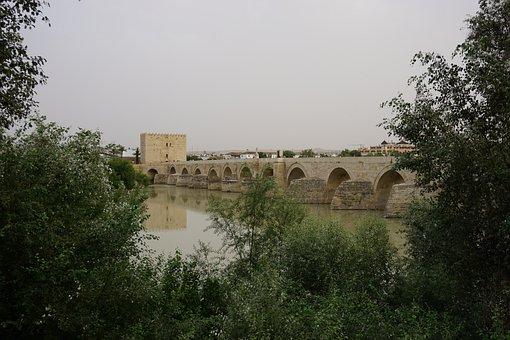 Cordoba, Spain, Bridge, River, Andalusia, Cordoba Spain