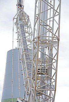 Baukran, Details, Crane Boom, Return, Construction Work