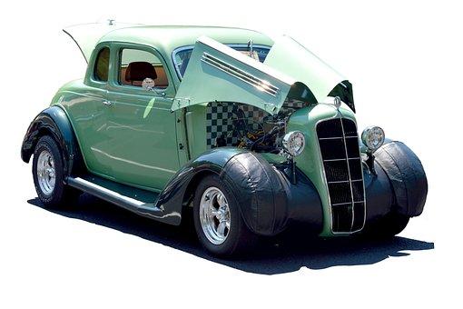 Customized Car, Hot Rod, Vintage, Retro, Car Show