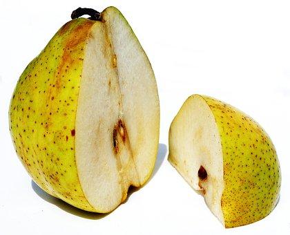 Pear, Half A Pear, Quarter Bulb, Fruit, Half, District