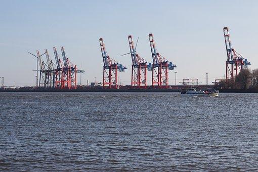 Hamburg, Port, Hanseatic, Hamburg Port, Elbe