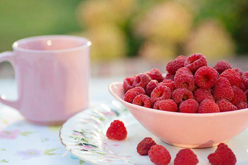 Raspberries, Breakfast, Summer, Fruit, Healthy, Dessert
