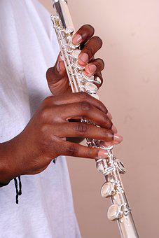 Flute, Silver, Playing, Instrument, Flutist, Female