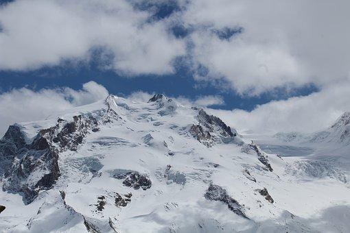 Mountain, Snow, Nature, Landscape, Winter, Sky, Blue