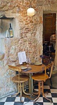 Rustic, Restaurant, Table, Wooden, Dinner, Lisbon