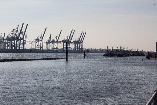Port, Hamburg, Elbe, Hanseatic, Hamburg Port