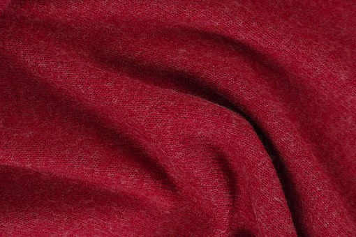 Red, Fabric, Textile, Abstract, Background