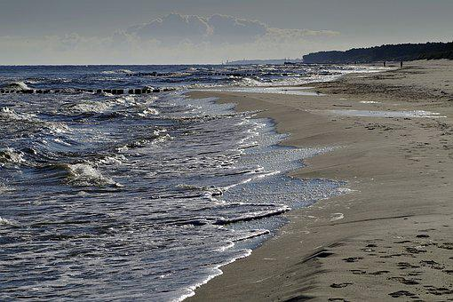 Beach, Sea, Holiday, The Baltic Sea, Spacer, Sand