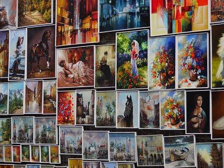 Table, Tables, Color, Krakow, Wall, Flower, Horse