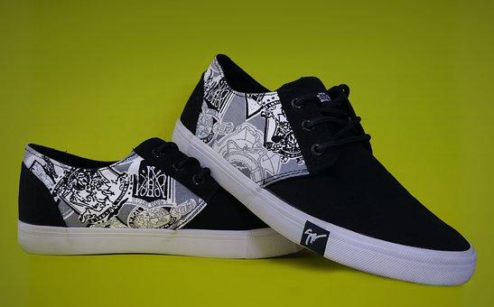 Shoe, Converse, Fashion, Black, White, Style