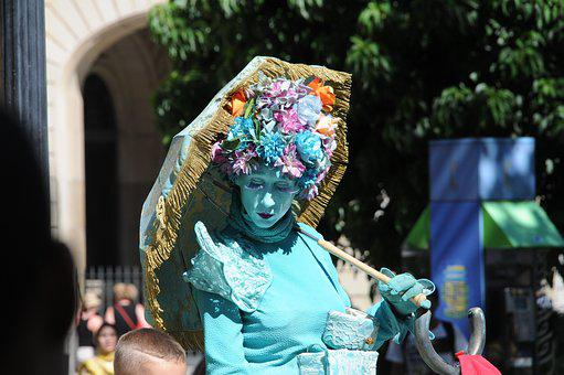 Living Statue, Woman, Image
