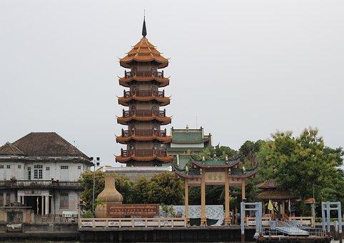 Wat, Temple, Bangkok, Asia, Buddhism, Architecture