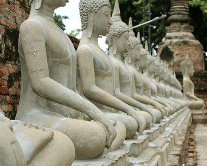 Buddha, Travel, Bangkok, Buddhism, Thailand, Statue