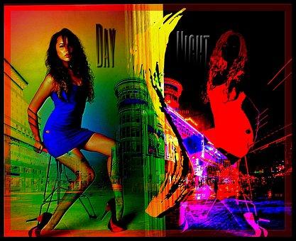 Pop Art, Woman, Girl, Beautiful, Interesting, City