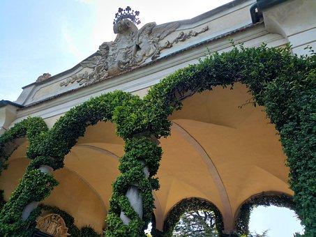 Villa Balbianello, Como, Lenno, Loggia