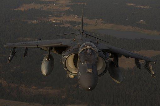 Av-8b Harrier Ii, Jet, Vtol, Aircraft, Aviation, Flight
