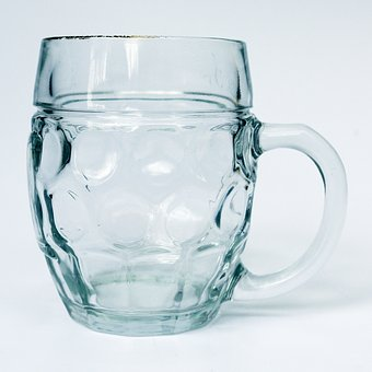 Beer Mug, Glass Mug, Seidla, Empty, Beer Mugs