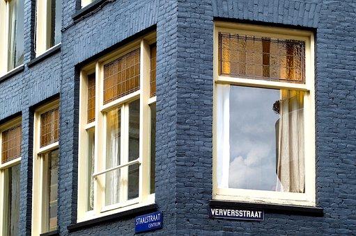 Home, House, Brick Wall, Window, Brick, Painted Brick