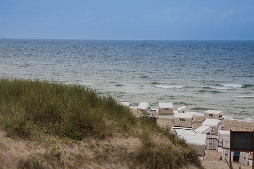 Sylt, Beach, North Sea, Dunes, Holiday, Blue, Island