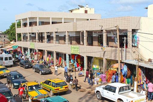 Africa, Market Town, Serrakunda, Market, Shopping Mall