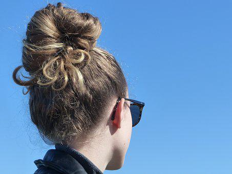 Bun, Hairstyle, Sunglasses, Model, Girl, Jeune Fille