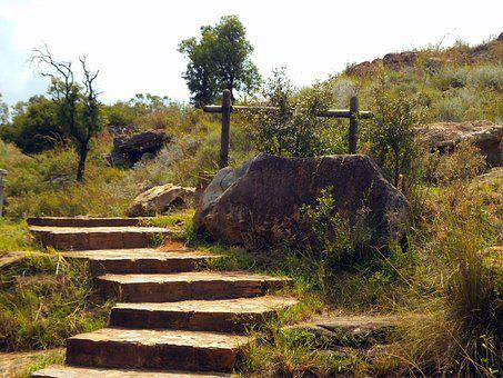 View, Landscape, Nature, Stone Steps