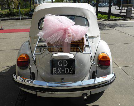 Transport, Volkswagen, Retro, Getting Married, Bow