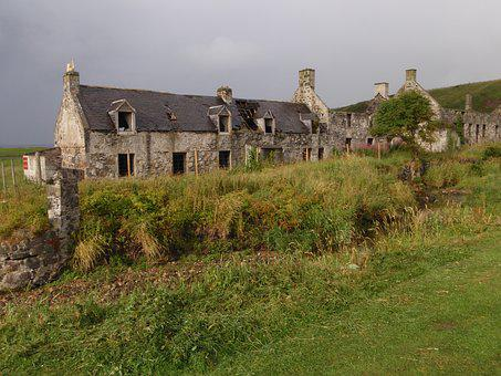 Building, Dilapidated, Stone, Abandoned, Green