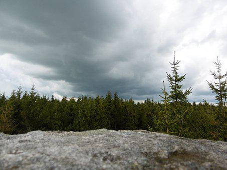 Forest, Stoves, Nature, Rock, Landscape, Stony, Clouds