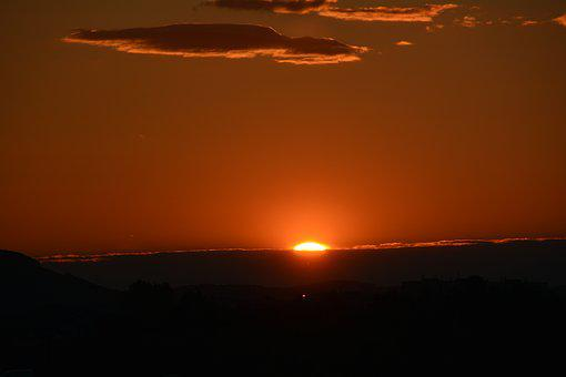 Sunset, Clouds, Sun, Afterglow, Evening Sky, Red, Sky