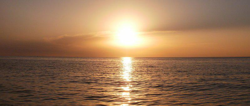 Sun, Sea, Cyprus, Holiday, Mediterranean, Sunset