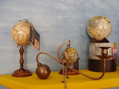 Nautical, Retro, Globe, Vintage, Map, Discover