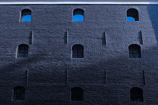 Building, Facade, Abstract, Wall, Dark, Jail