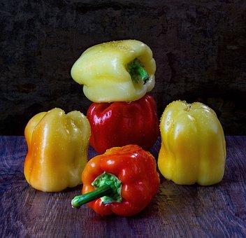 Pepper, Red, Yellow, Still Life