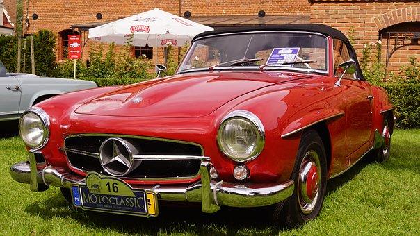 Mercedes, Pagoda, The Vehicle, Retro Car, Auto