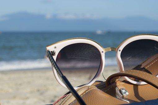 Sunglasses, Sea, Vacations, Sunny, Beach