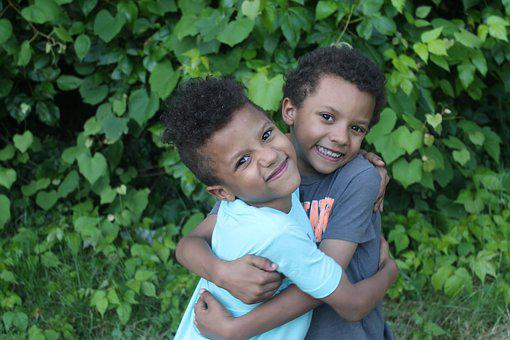 Twins, Hugging, Brothers, Boys, Kids, Love, Little
