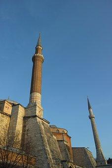 Hagia Sophia, Church, Blue, Cami, Minaret, Islam