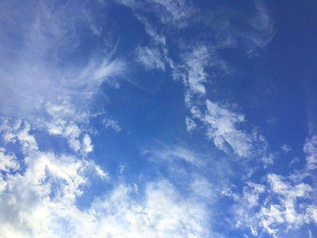 Clouds, Sky, Blue, Clouds Form, Covered Sky, Nature