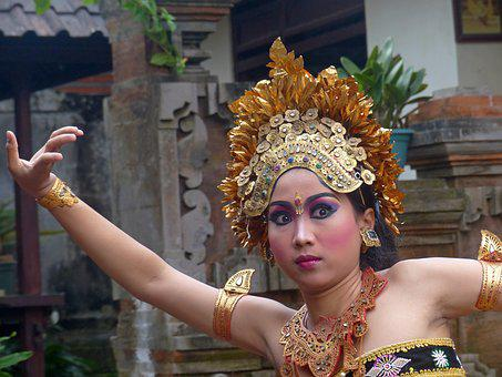 Indonesia, Bali, Dancer, Dance, Costume, Tradition
