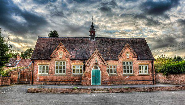School, Building, Hdr, Architecture, Exterior