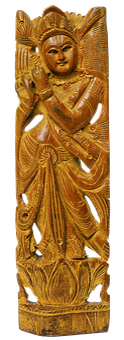 Krishna, Holzfigur, Hand Carved, India, Indian, Keshava