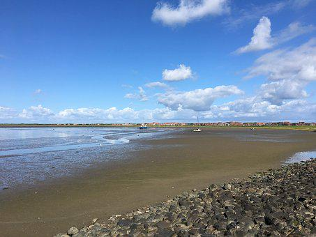 Watts, East Frisia, Juist, Ebb