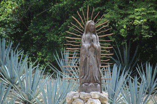 Virgin, Religion, Xcaret, Mexico, Landscape